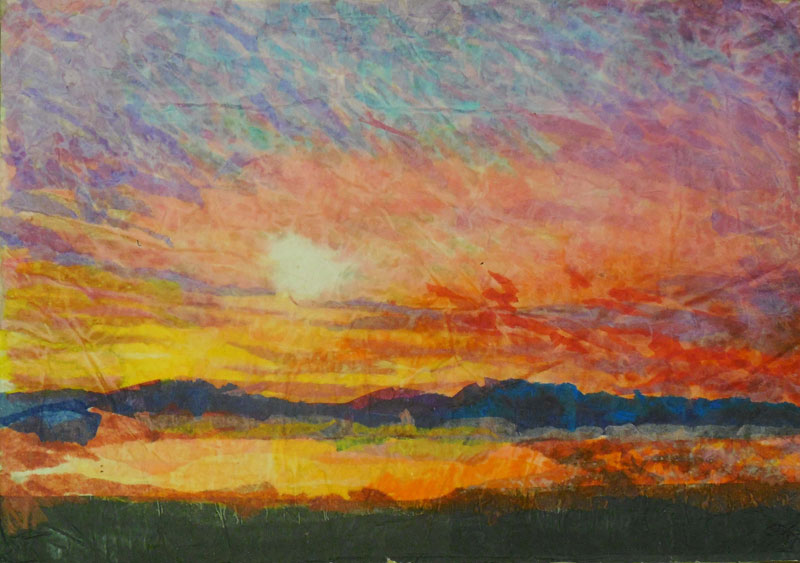 california sunset painting